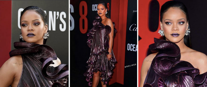 sports shoes 0f2e7 3ce95 Rihanna Looks Great At The Opening For Oceans 8!